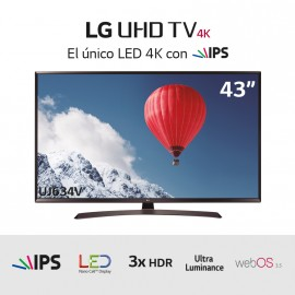 TV LED Ultra HD 4K 43 marrón havana