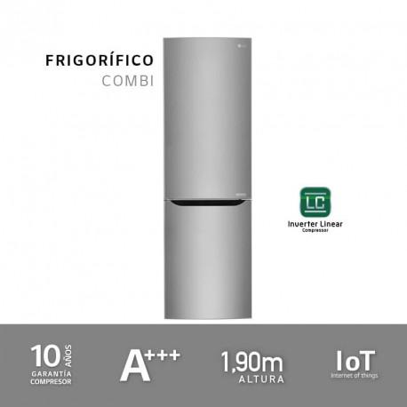 Frigorífico combi A+++ 1,90m acero antihuellas