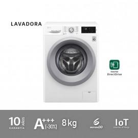OUTLET LG Lavadora Serie 7 de 8 kg, 1400rpm, A+++(-30%) con 6 motion Direct Drive™