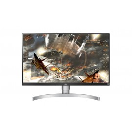 "Monitor Ultra HD 4K 27"" blanco"