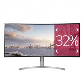 "Monitor Ultra Wide Curvo 37,5"" blanco"