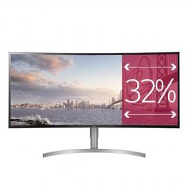 Monitor LG Ultra Wide Curvo 95'25cm ( 37,5 pulgadas) blanco