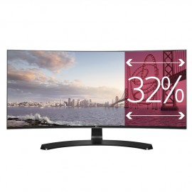 "LG Monitor Panorámico multiuso UltraWide® Curvo IPS 86,4cm /34"" con altavoz"