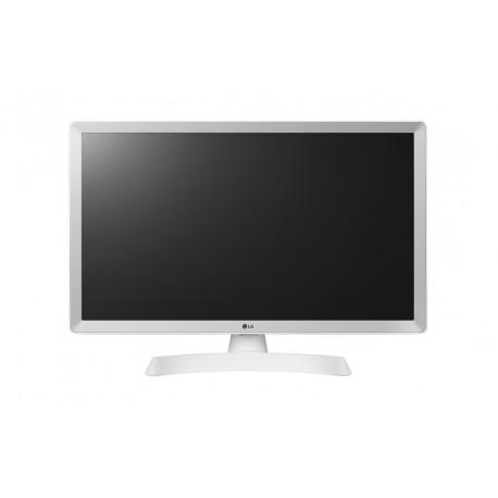 """LG Smart TV/Monitor, 61cm/24"""" con pantalla LED HD en blanco"""