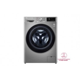 LG Lavadora inteligente 10,5kg, 1400rpm, A+++(-40%), Inox Antihuellas, Serie 7