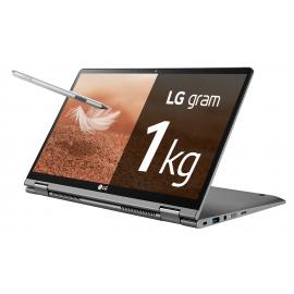 "Portátil LG Gram Convertible 2 en 1 ultraligero de 14"" FHD IPS  Plata"