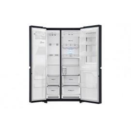 Frigorífico LG  Instaview Door-in-Door, 1,79m, A++, capacidad de 601l, Acero Negro Mate Antihuellas