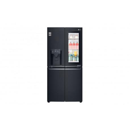 Frigorífico LG American Combi Ancho especial 83cm Instaview Door-in-Door A+ Acero Negro Mate Antihuellas
